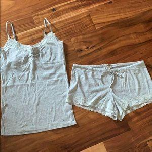 Aerie brand grey tank and pj shorts set